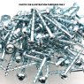 100 no. 7 x 25mm Coarse, Zinc Coated Pocket hole screws.
