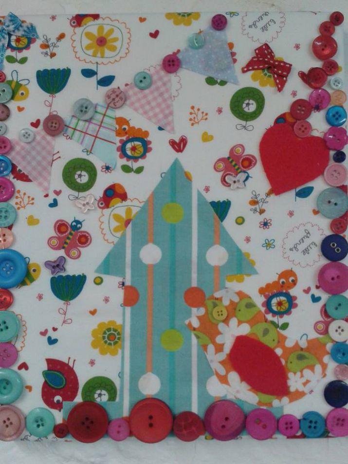 Embellished Fabric Canvas